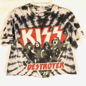 KISS Vintage Tee Shirt Small Cropped Destroyer